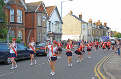 Carnival majorettes Stock Photo