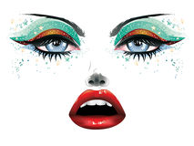 Carnival Makeup Stock Images