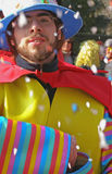Carnival - man with confetti royalty free stock images