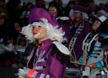 Carnival march 2014 Lanzarote Royalty Free Stock Photos