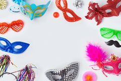 Carnival or mardi gras masks Royalty Free Stock Image