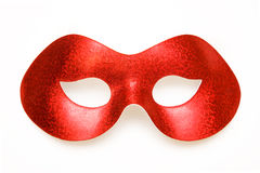 Carnival mask. Red carnival mask isolated on a white background Royalty Free Stock Images