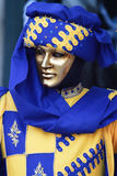 Carnival mask. Carnival of Venice, Italy: Person wearing beautiful mask and costum Royalty Free Stock Photography