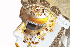 Carnival mask. Carnival of Venice, Italy: Person wearing beautiful mask and costum Royalty Free Stock Photos