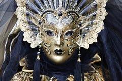 Carnival Mask. Very old Gold Carnival Mask Stock Photo