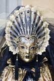 Carnival Mask. Very old Gold Carnival Mask Royalty Free Stock Images
