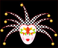 Carnival mask. Of a joker. The illustration for your design project Stock Photo