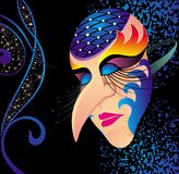 Carnival mask. Mask carnival fase venice theater venetian Royalty Free Stock Photos