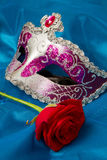 Carnival mask. With a rose Royalty Free Stock Photo
