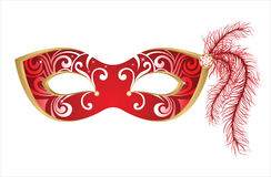 Carnival mask. Red carnival mask -  illustration Stock Photos