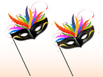Carnival mask. On white background Royalty Free Stock Photography