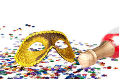 Carnival mask. Happy new year background with carnival mask Stock Image