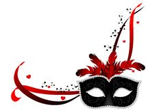 Carnival mask. Carnival facemask on white background Royalty Free Stock Photography