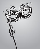 Carnival mask. Illustration of isolated carnival mask Stock Photos