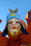 Carnival mask. Detail of a carnival float at Viareggio Carnival (carnevale di Viareggio). Viareggio Carnival, celebrating in 2013 140 years of life and it is one royalty free stock photography