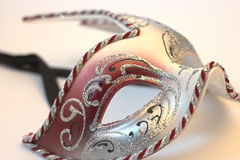 Carnival mask. Close up carnival mask over white Stock Images