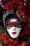 Carnival mask. Venetian carnival costume. Red and black Royalty Free Stock Photos