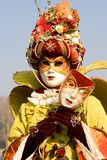 Carnival mask. Venetian carnival costume with a mask Stock Photos