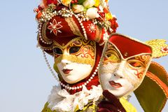 Carnival mask. Venetian carnival costume with a mask Stock Photography