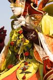 Carnival mask. Venetian carnival costume with a mask royalty free stock images