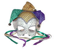 Carnival mask 5. A isolated photo of a carnival mask on a white background royalty free stock photo