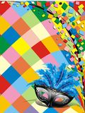 Carnival Mask Background. An Arlequin Carnival Mask Background Royalty Free Stock Photos