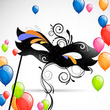 Carnival Mask and Balloons Stock Photo