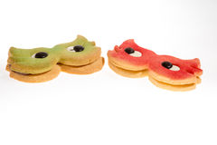 Carnival mask biscuits Stock Photography