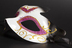 Carnival mask on a black Stock Image