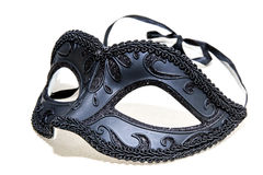Carnival mask. Black Carnival mask venetian royalty free stock photography