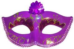 Carnival mask bow decoration flowers border  white Stock Photo