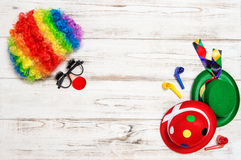 Carnival mask clown. Holidays banner Stock Photography