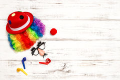 Carnival mask clown. Royalty Free Stock Image