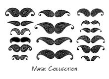 Carnival mask collection, sketch for your design Royalty Free Stock Photography