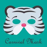Carnival mask 3d models. Colors edition Royalty Free Stock Photography