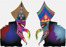 Carnival mask decorated with designs Royalty Free Stock Image