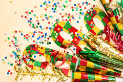 Carnival mask and decorations. Holidays background Stock Images