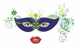 Carnival mask and eyes Royalty Free Stock Photo