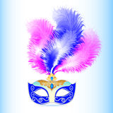 Carnival mask with feather and jewels Royalty Free Stock Photography