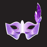 Carnival mask and feather vector Royalty Free Stock Images