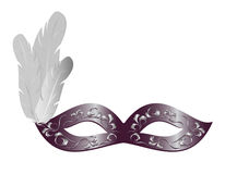 Carnival mask with feathers Stock Photography
