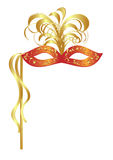 Carnival mask with feathers Royalty Free Stock Image