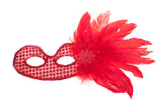 Carnival mask with feathers Royalty Free Stock Images
