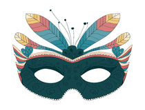 Carnival mask with feathers Stock Images