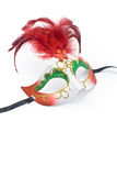 Carnival mask with feathers and diamond Stock Image