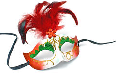 Carnival mask with feathers and diamond Stock Photography