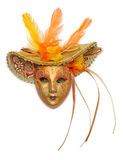 Carnival mask. With feathers isolated on white background Royalty Free Stock Images