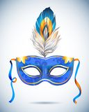Carnival mask with feathers vector illustrations Stock Image