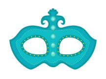 Carnival mask icon, flat, cartoon style. Masquerade, holiday party concept. Isolated on white background. Vector Royalty Free Stock Images