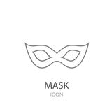 Carnival mask Icon. Flat style object. Art picture drawing. Web. Icons Royalty Free Stock Photography
